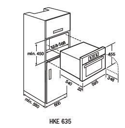 HKE635-compact-oven-dimension