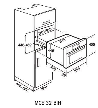 MCE 32 BIH-combi-microwave-dimensions