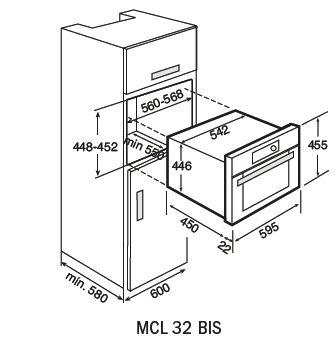 MCL 32 BIS-combi-microwave-dimensions