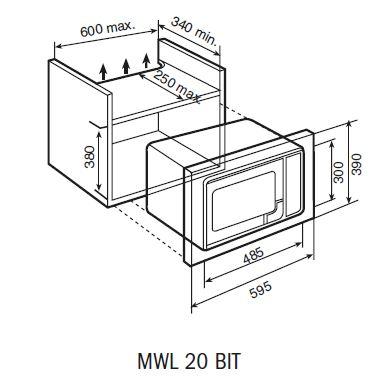 MWL 20 BIT-dimensions